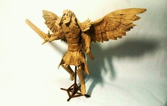 Michael Archangel (mark origami (2)) Tags: origami papel paper sculpture angel archangel arcangel miguel michael papiroflexia winged