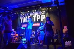 Taina Asili y La Band Rebelde at the Boston Rock Against the TPP Concert (jamie_okeefe) Tags: tainaasiliylabandrebelde rockagainstthetpp spontaneouscelebrations boston massachusetts fightforthefuture tpp ttip tisa spontaneous celebrations