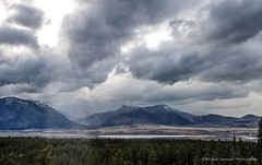 Beautiful Storm (One Shoe Photography Ltd.) Tags: landscape light sky storm rockies mountains water beautiful trees country lake park alberta skies skyline canada clouds