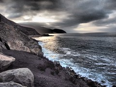 PCH (intention) Tags: rocks surf waves ca mountain clouds coast sunrise ocean pch