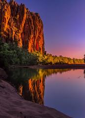 The Waiting Game (jenni 101) Tags: australianoutback australiansunset gibbriverroae kimberleys windjanagorge colourful freshwatercrocodiles gorge reflections westernaustralia