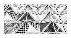Rooftop Patterns And Shapes (red stilletto) Tags: singapore hotel view rooftop patterns shapes triangles suntecsingaporeinternationalconventionandexhibitioncentre suntec sunteccity