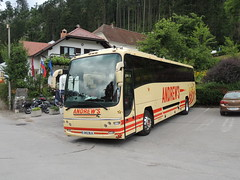 DSCN1898 ANDREW'S, TIDESWELL 345 BLA (Skillsbus) Tags: buses coaches slovenia england andrews tideswell peakdistrict derbyshire volvo plaxton panther 345bla b12b