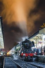 Dining Scotsman (Nigel Gresley) Tags: 60103 flying scotsman east lancashire dining train steam locomotive night time