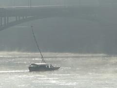 Rhein an einem Oktobermorgen (thobern1) Tags: basel bale rhein rhin river fluss strom brcke nebel fog oktober rheinfhre