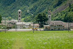 (Maya Lucchitta) Tags: alps bernina berninaexpress engadin engadine switzerland churchtower panoramatrain train