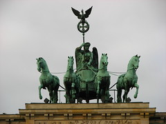 Quadriga sculpture (Sparky the Neon Cat) Tags: europe germany deutschland berlin mitte brandenburg gate brandenburger tor neoclassical quadriga sculpture chariot
