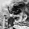 Face Paint, Black & White (Geraint Rowland Photography) Tags: squareformat blackandwhite portrait mexican girl childportrait streetphotography blankynegro pretty canon 18 85mm lightning geraintrowlandphotography