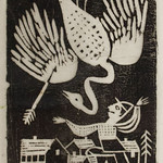 "<b>Der Vogelschutze (The Birdhunter)</b><br/> Gerhard Marcks (1889-1981) ""Der Vogelschutze (The Birdhunter)"" Woodcut, 1921 LFAC #456.00.00<a href=""http://farm6.static.flickr.com/5514/30865564275_14718e4fe0_o.jpg"" title=""High res"">∝</a>"