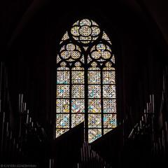 Musical Glass (katrin glaesmann) Tags: frankfurt kaiserdomstbartholomus frankfurtcathedral window organ stainedglass bleiglasfenster orgel