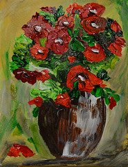 Flowers for Friends (BKHagar *Kim*) Tags: bkhagar painting paint acrylic art artwork floral flowers artday pot flowerpot vase