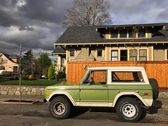 Ford Bronco '70s (__HK __) Tags: ford oregon portland autumn clouds