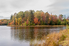 Beaver Lake (nikons4me) Tags: wisconsin wi beaverlake northwoods nikond80 tamronaf28200mmf3856asphericalld lake cloudy autumn fallcolor fall