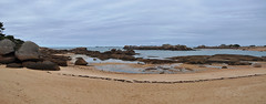 Trgastel - Beach Panorama (Drriss & Marrionn) Tags: brittany bretagne france westerneurope outdoor trgastel ctedegranitrose coast shore coastline beach seaside oceanview ocean rockformation rocks landscape landscapes sky seascape water sea rock graniterose