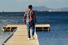 SALINE DI MARSALA: ME (S.Torrisi@ph) Tags: marsala saline sicily sicilia sea mare pontile infinity infinito prospettive people