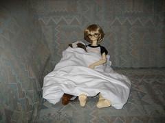 Saturday Morning TV 001 (EmpathicMonkey) Tags: bjd bluefairy olive toby happy monkey photo story ball jointed dolls toys