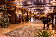 Opulence (caribb) Tags: canada quebec quebeccity canadianhistory buildings urban city 2016 downtown centreville street streets centrum hotel lobby hotellobby fairmonthotel chateaufrontenac hotellechateaufrontenac opulent elegant oldworld beautiful hall
