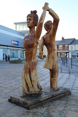 Strictly Seaham (Munki Munki) Tags: seaham countydurham wood carving chainsaw dancing wedding byronplaceshoppingcentre anneisabellamilbanke daughteradabyronlaterlovelace poet lordbyron