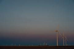 Evening in Iowa (Dan Constien) Tags: iowa midwest windpower windturbine evening goldenhour takumar50mm14 sonya7 danconstien fall colors sky