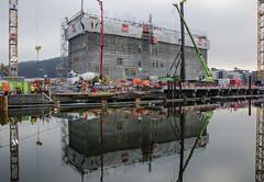 Building Lambda (AstridWestvang) Tags: architecture building concretecement construction crane industry oslo reflection
