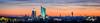 Panorama of Leipzig (daniel_moeller) Tags: bluehour blauestunde sunset sun sonnenuntergang sonne sky clouds himmel wolken abendrot panorama pano wintergartenhochhaus cityhochhaus cityhochhausleipzig uniriese neuesrathausleipzig neuesrathaus skyline leipzig sachsen saxony deutschland germany europa europe sonyalpha6000 sonysel55210 sel55210