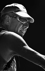 Working up a sweat (Neil. Moralee) Tags: neilmoralee nikond7100lesgetsfranceseptember2013neilmoralee man glasses sweat arm pit lpov hat cap baseball black white bw blackandwhite blackbackground sunshine bright brite sweating sport runninh work workout out outdoor people mono monochrome nikon d7100 neil moralee france shades mature old older marathon runner deodorant odour odor hygiene washing smell vest bare arms
