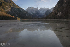 Crystal Mirror (Giuseppe Sapori) Tags: mountains dolomiti dolomites italy travel reflections water lake lago details sky clouds blue digital blending luminosity masks trees nature landscape