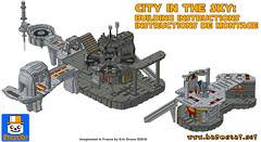 City in the Sky Instructions (baronsat) Tags: lego bespin cloud city instructions for sale custom model moc