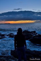 Skyline (lpcobian) Tags: galicia areas pontevedra spain espaa sky sunset skyline nature evening puestasol sol sun beach playa ocean atlantic oceano atlantico friend tourism travel turismo daytrip