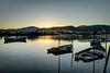 Lugar de paz (julenurtxegi) Tags: mar costa barco reflejo paz tranquilidad paisaje rio bidasoa amanecer