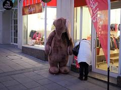 It's christmas, you know? (blindmull) Tags: street hase rabbit strasse strassenfotografie streetphotography streetscene stuttgart shopping schaufenster outdoor christmas weihnachten xmas