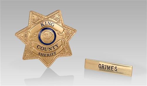 【陰屍路】Rick Grimes 警徽1:1 複製品