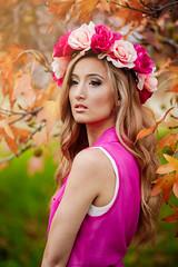 Elle (Sean Pham.) Tags: light portrait flower floral fashion golden nikon natural elle 85mm lifestyle editorial crown bohemian d700