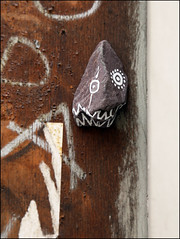616 (Alex Ellison) Tags: urban streetart stone painted 66 eastlondon 616 6|6
