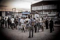 Curious visitors (N-Sarn) Tags: people art festival project dark island mediterranean experimental tour culture croatia fringe tourists event artists shipyard happening adriatic lussino 2013 malilošinj lošinj škver