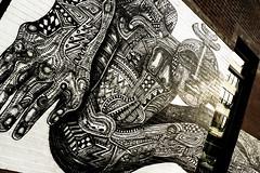 Bodied Art (Instant Vantage) Tags: street leica nyc summer white newyork black art face brooklyn graffiti body craft fair eastriver renegade dlux bk chicharon renegadecraftfair 2013 eastriverstatepark leicadlux4 dlux4