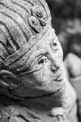 Pharaoh (Francesca Delanty-Granger Photography) Tags: bw white black statue stone garden king egypt egyptian feature pharoh