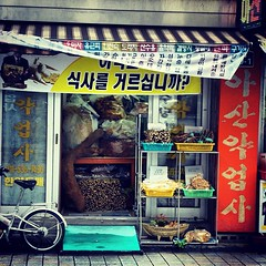 Korean grocery store (sunsetbaytravel) Tags: trip travel people food fish beautiful temple women war asia buddha guerra korea monks seoul busan temples trips southkorea budda viaggi viaggio cibo beopjusa bibimbap gyeongju seul pesce tempi gwangju corea mokpo coreadelsud
