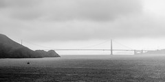 Marin-1148 (markitos57) Tags: ocean sanfrancisco california blackandwhite fog pacific marin windy goldengatebridge goldengate headlands sausalito pointbonita fogcity foggycity