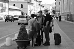 Waiting for the bus (Franco & Lia) Tags: street blackandwhite noiretblanc umbria biancoenero santamariadegliangeli 2485f284 stphotographia