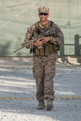 Standing Guard, Task Force Paladin, Bagram Afghanistan, 2012 (.James Brian Clark) Tags: people afghanistan muscular military chief navy american eod strong defense active 2012 teamwork armed specialforces cpo bagram militarypersonnel chiefpettyofficer navyseal navyeod