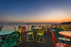 The Terrace at dawn (matt_frankel) Tags: morning lake color sunrise dawn nikon memorial university chairs terrace union clear nikkor mendota f4 d600 1635mm wisconsinmadison madison365