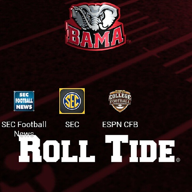 My screen saver & apps for this Football Season! #SEC #AlabamaFootball #Alabama #BamaGirl #BamaSlamma #Bama #Crimson #RollTideRoll #touchdown #halftime #MarchingBand
