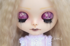 Tien (Art_emis) Tags: light art girl angel work doll long hand sad handmade drawing ooak painted blond mohair blythe mold custom takara eyelids fbl reroot