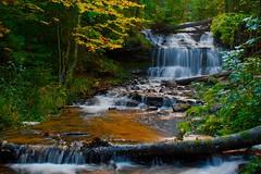 Wagner Falls Michigan (Alan Amati) Tags: fall colors up mi waterfall michigan falls upperpeninsula wagner munsing amati alanamati