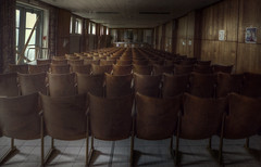 A chair will lead the revolution  ( explore ) (andre govia.) Tags: abandoned demo chair theatre stage ghost down ghosts derelict decayed decaying abandonedhospital abandonedasylum govia andregovia decayhospital