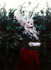 dissapear (sparkbearer) Tags: red green dark photography frozen ghost ivy pale freeze blonde float ghostly dissapear sparkbearer chelseaknight