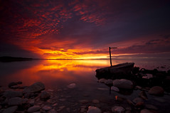 AHHHH_DSC3047_E5 (antelope reflection) Tags: sunset reflection colors antelopeisland greatsaltlake tamron nikond90 utahstatpark