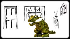 44/52 Monster In My Room (Suggsy69) Tags: monster composite nikon dinosaur cartoon week44 2013 d5200 weekofoctober28 52weeksthe2013edition 522013