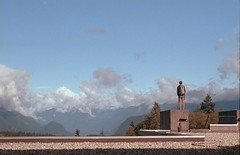 Viewing the Mountains (jvde) Tags: 3570mmf3345nikkor film burnaby nikon nikonfe sfu coolscan gimp